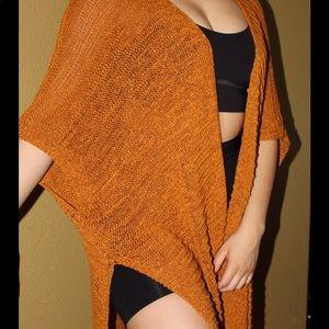 Rust orange cardigan